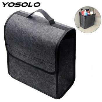 YOSOLO Car Storage Bag Trunk Organizer Box Folding Auto Rear Storage Pouch Stowing Tidying Seat Back Bag Car Styling Accessories