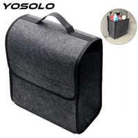 YOSOLO Auto Lagerung Tasche Trunk Organizer Box Folding Auto Hinten Lagerung Pouch Verstauen Aufräumen Sitz Zurück Tasche Auto Styling Zubehör