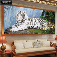 New Full Square Diamond 5D DIY Diamond Painting White Tiger Cross Stitch Cross Stitch Square Diamond