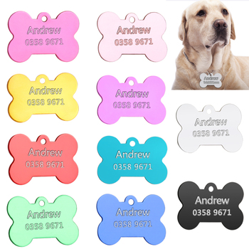 Personalizado collares para perros arneses de perro hoja personalizada perros etiqueta Collar para gatos perro nombre Teléfono para Product3
