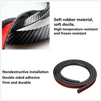 2pcs 150cm Carbon Fiber Car Fender Flare Extension Wheel Eyebrow Strip Protector