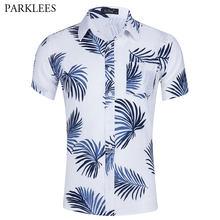 d42c9108 Summer Brand Hawaiian Men Shirt Slim Fit Short Sleeve Beach Shirts Men  Casual Party Holiday Male Aloha Shirt Camisa Hawaiana Xxl