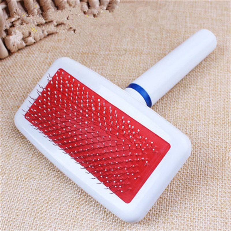Hot Sale Red Dog Brush Dog Comb for Scraper Puppy Slicker Gilling Brush Quick Clean Grooming Tool Pet Product