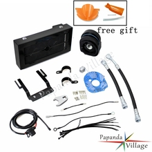 Papanda Black Motorcycles Reefer Oil Cooler Fan Motorbike Cooling System for Harley Softail 2001-2007