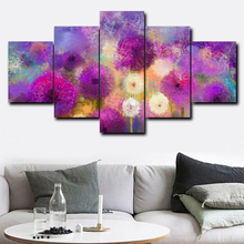 Laeacco Canvas Calligraphy Painting Graffiti 5 Panel Poster Print Wall Artwork Pictures For Living Room Home Bedroom Decoration цена