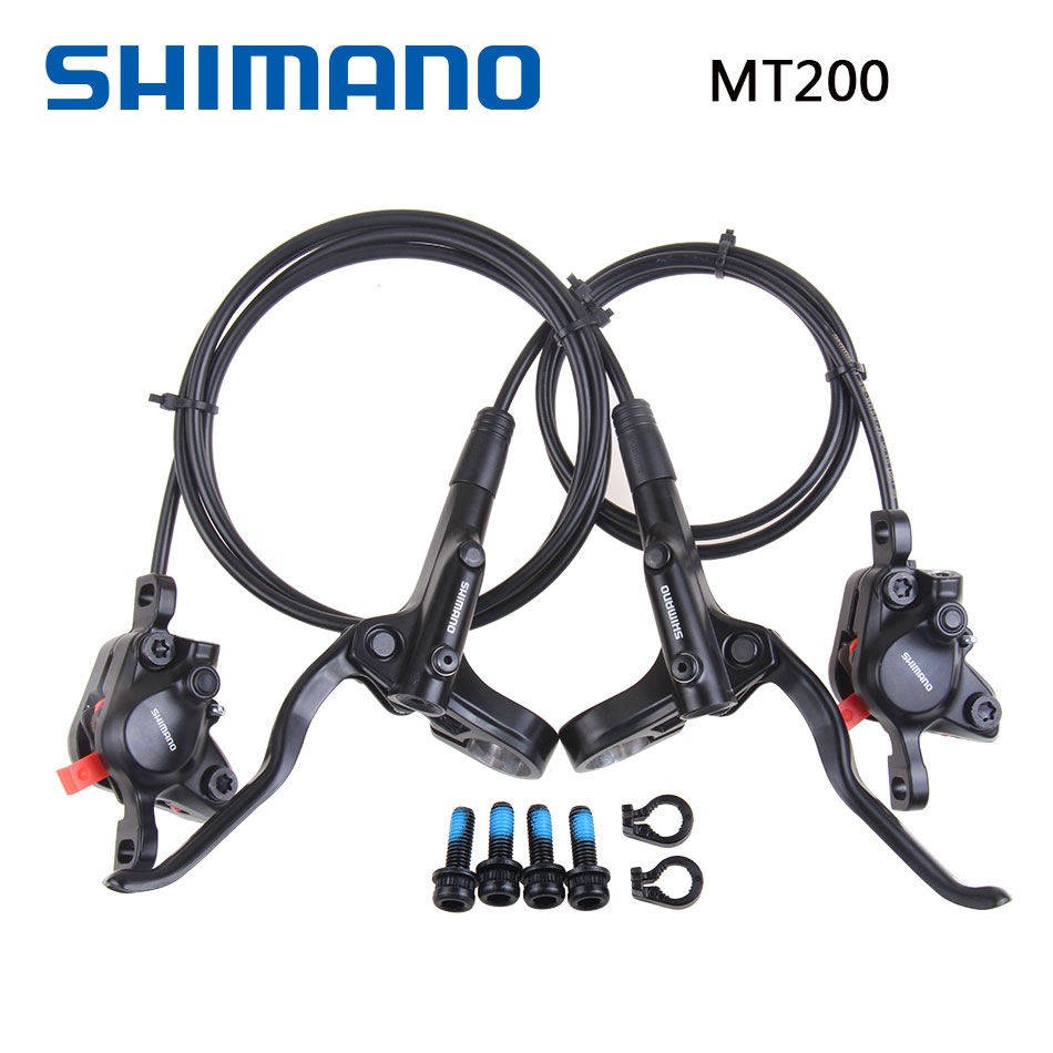 Shimano MT200 M315 Brake Bike Bicycle Mtb Hydraulic Brake Disc Set Clamp MTB Brake 800mm/1450mm M315 Update shimano m315 mtb bike hydraulic disc brake set clamp mountain brake bicycle disc brake original bicycle brakes free ship
