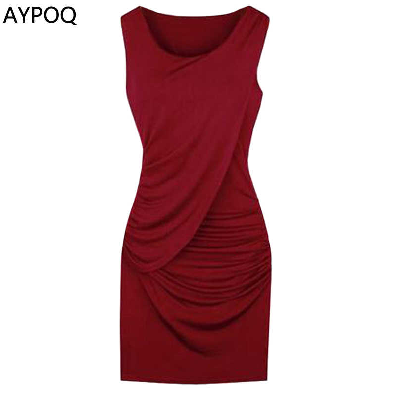 db0adf0505 Spring Summer 3XL Plus Size Red Black Party Evening Bodycon Dress ...