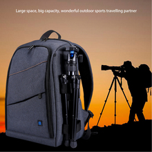 new pattern dslr camera bag backpack video photo bags for camera d3200 d3100 d5200 d7100 small compact camera backpack 2019 New Multi-functional Camera Backpack Video Digital DSLR Bag Waterproof Outdoor Camera Photo Bag Case for Nikon DSLR D20