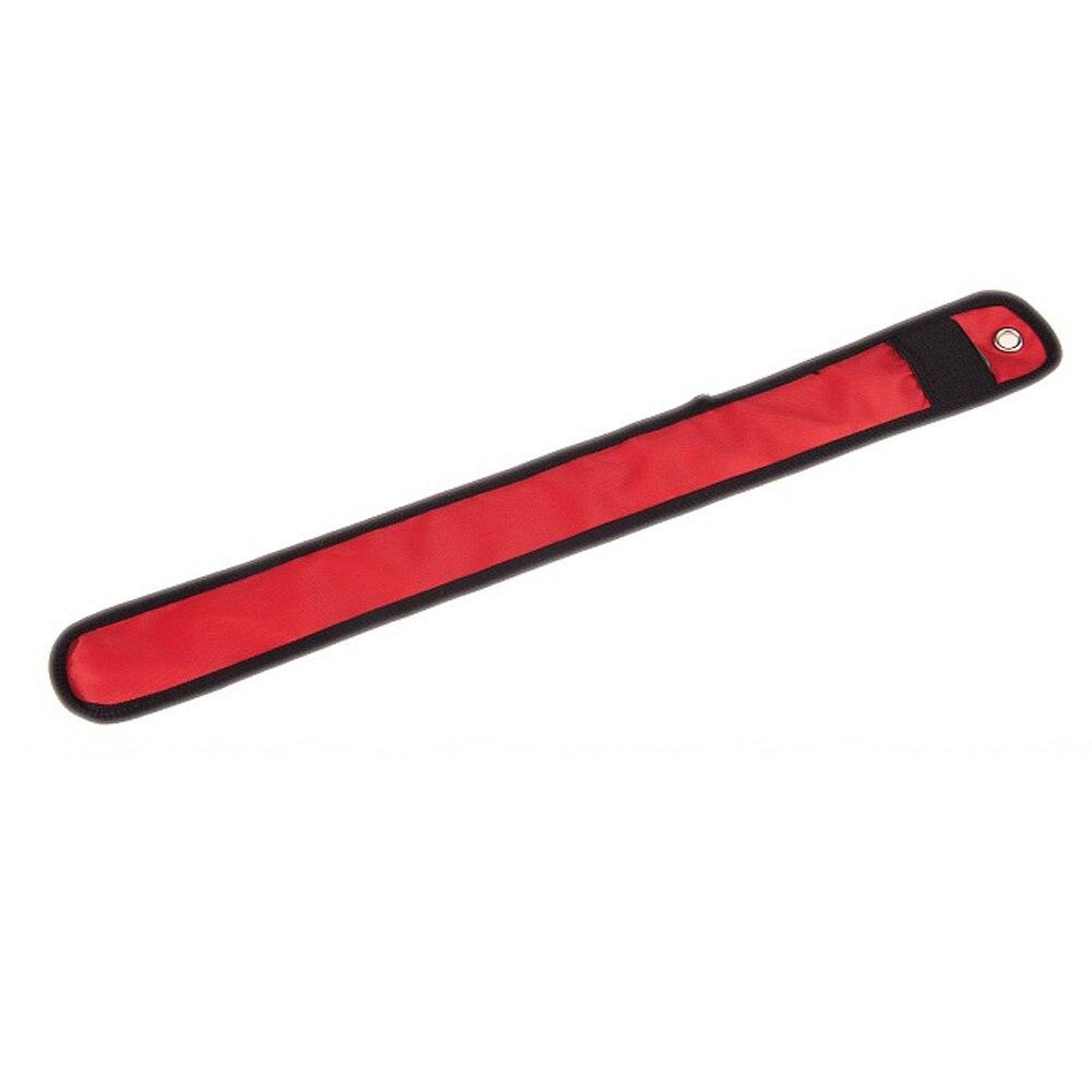 Новинка СВЕТОДИОД Мигает Нейлон запястье повязка лента для безопасности Спорт (красный)