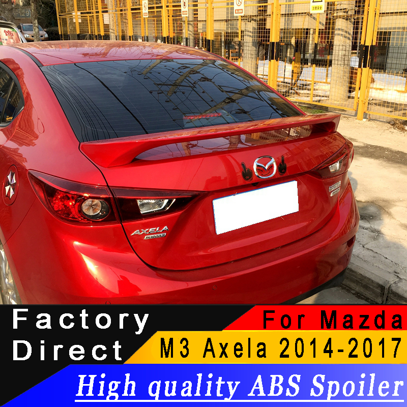 High quality ABS material Coupe spoiler For Mazda 3 M3 Axela 2014 to 2017 year spoiler
