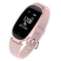 S3 Bluetooth Smart Band Bracelet IP67 Waterproof Girl Women Heart Rate Monitor Wrist Watch Smartband Lady