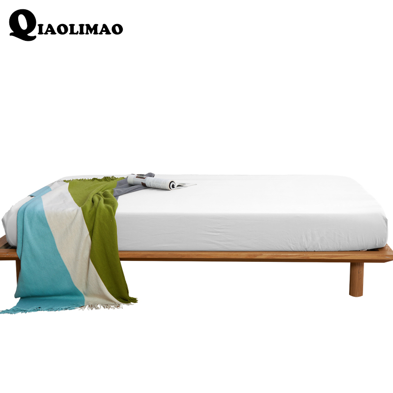 Home Textile Solid Fitted Sheet With Elastic bed Sheet 160*200cm Bed Cover Mattress Cover Spring Summer Autumn Winter Bedclothes