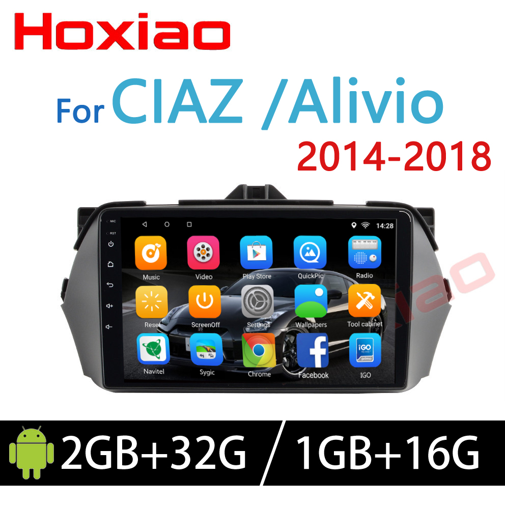 Hoxiao Android 6 for SUZUKI Alivio/CIAZ 2014 2018 GPS HD multimedia player ma..p navigation WIFI BT noDVD 9 inch 2DIN car radio-in Car Multimedia Player from Automobiles & Motorcycles    1