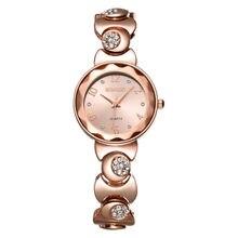 WEIQIN Мода Часы Женщины Rhinestone Розового Золота Кварцевые Часы Лучший Бренд Платье Женские Часы Браслет Часы Relogio feminino