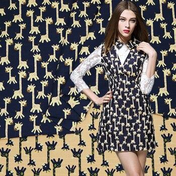 Otoño e Invierno Europa y los Estados Unidos solapa nueva moda ciervo jacquard ropa tela bump tela