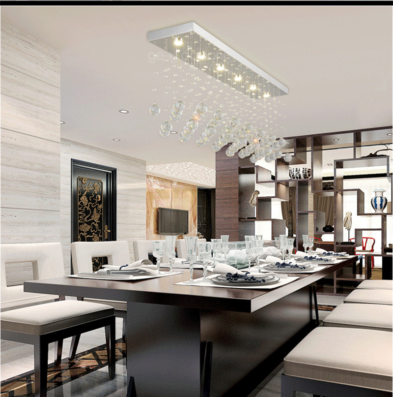 Chinese Style Led Crystal Kitchen Lighting K9 Clear Ceiling Lights Bar Dining Room Gu10 Spot Light Lamparas De Techo In From