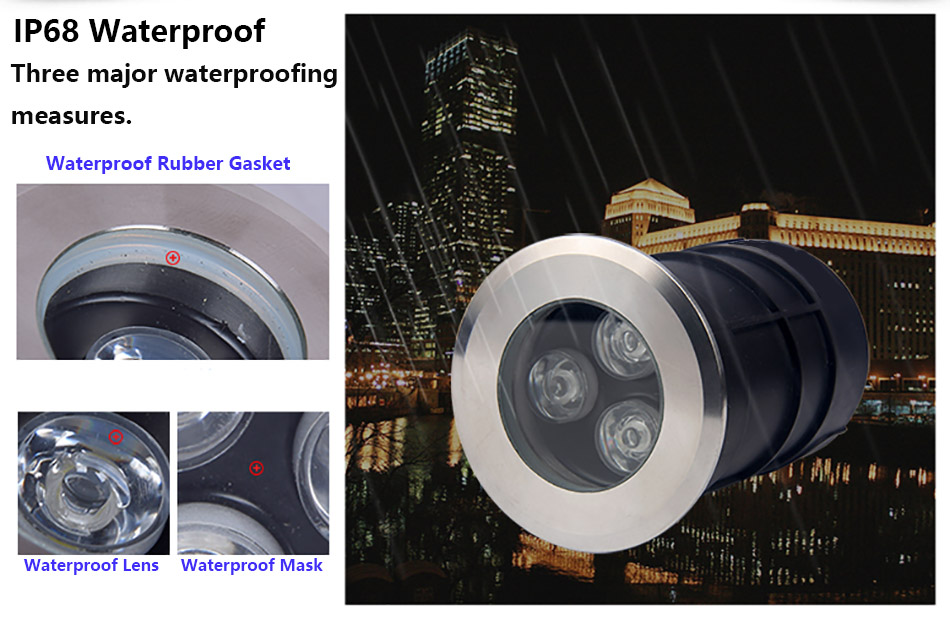 1w 3w IP68 Underground Light 6