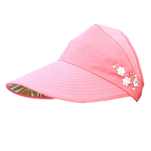 7b260b1594d Summer Women s Sun Visor Colorful Adjustable Wide Brim Canvas UV Protection  Outdoor Visors for Ladies( · 5 Colors Available
