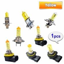 Hippcron 1 шт. желтый H1 H3 H4 H7 H8 H11 9005 9006 галогенная лампа для автомобилей 12В 55 Вт 3000 К кварцевые Стекло ксеноновые фары автомобиля авто лампы