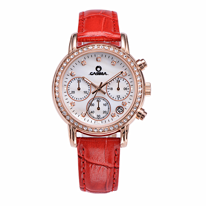 New luxury brand Women Crystal Calendar Watch Famous Fashion Design watch Ladies Quartz-watch Wrist watch relogio feminino meibo brand fashion women hollow flower wristwatch luxury leather strap quartz watch relogio feminino drop shipping gift 2012