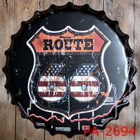 Vintage Metal Art Plate Beer Bottle Caps Home Decor Coffee Garage Bar Wall Antique Imitation Crafts 35CM