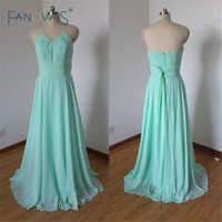 New 2016 Simple Halter A-Line Floor-Length Chiffon Mint Green Bridesmaid Dresses Long Dress Custom Made Modest Gown Bride ASAB34