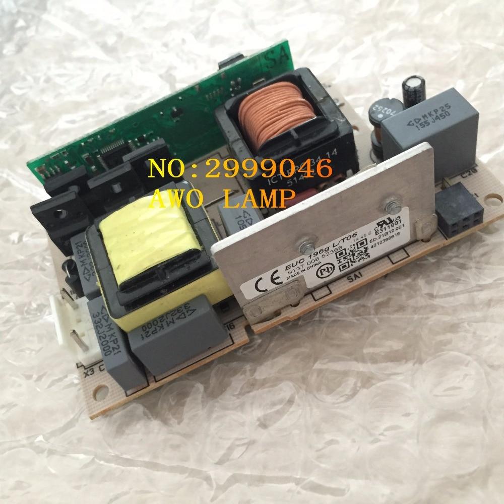 AWO Replacement Projector lamp ballast EUC 196g L T06 FIT for Hitachi HCP DX300 BENQ MX620ST