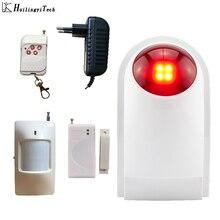 HuilingyiTech Wireless Flash Siren Home Security System Wireless Siren Loudly Sound House Garage 110DB Detectors Controller siren