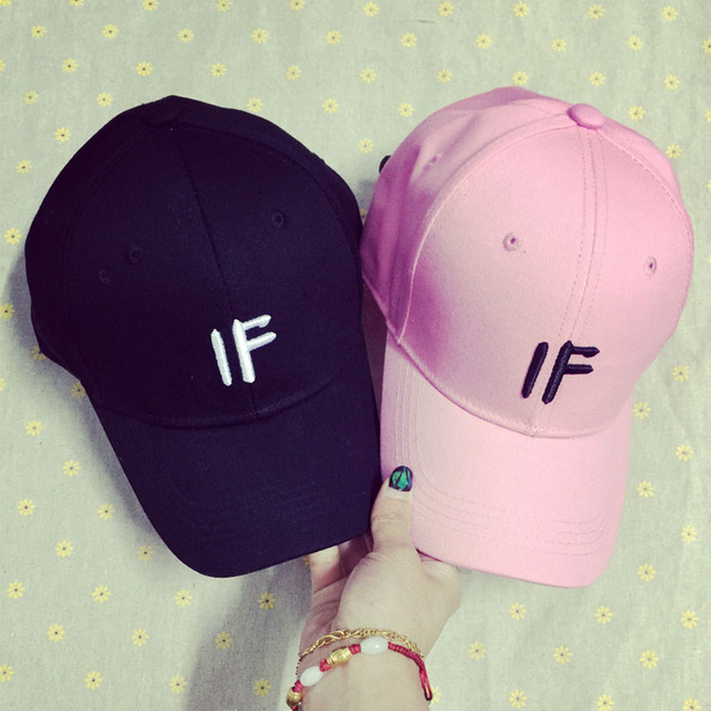 Wholesale Gorras 2017 Spring Summer New Lovely Pink Casquettes For Women Korea Ulzzang Harajuku Letter Snapback Baseball Caps