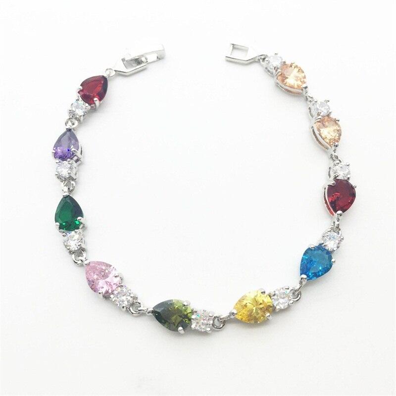 2f0b56375772 Gallant al por mayor y al por menor multicolor cubic zirconia oro blanco  color pulseras y brazaletes moda joyería