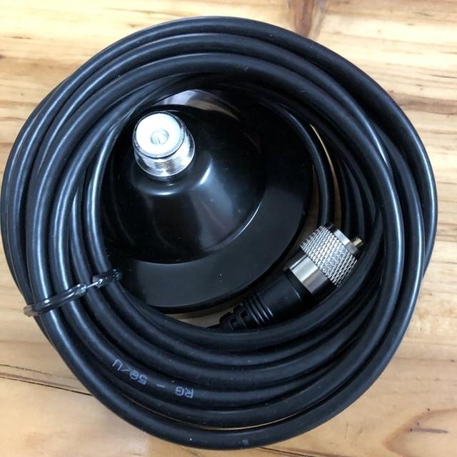 Base magnética para transceptor de coche, alimentador de 5M, base magnética para Antena walkie talkie móvil