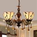 Европа и Америка Тиффани цвет стекло отель столовая гостиная спальня Чайный домик кафе интернет кафе 5 люстр