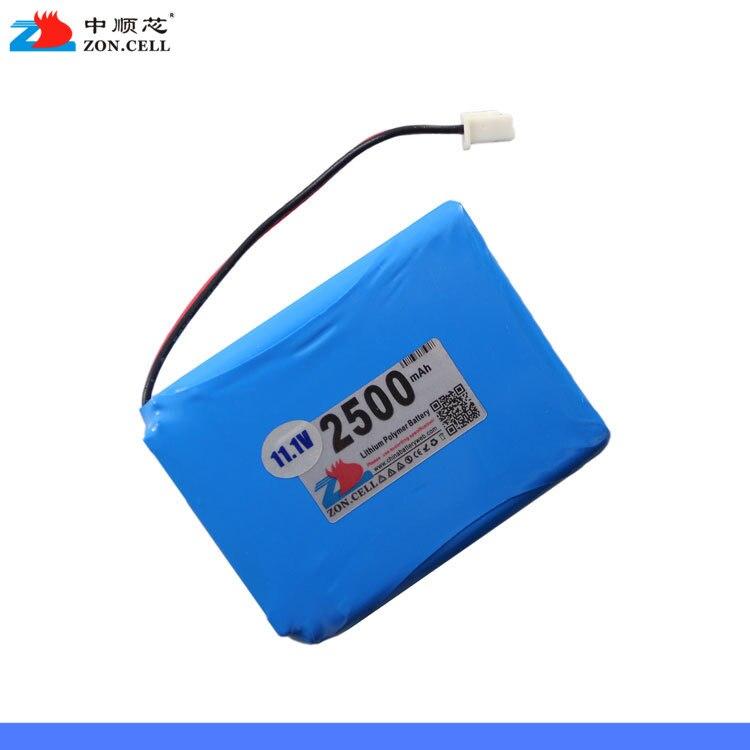 Dans 2500 mAh 554858 12 V batterie au lithium polymère moniteur commutateur 11.1 V détecteur cellule Rechargeable Li-ion