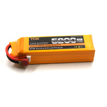 TCB 4S RC lipo battery 14.8V 5200mAh 25C FOR rc helicopter airplane drone car high power batteria AKKU cell 4S