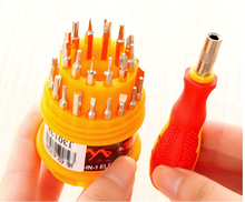 31 in 1 Precision Multi function Screwdriver Set Tool Hexagon Slotted Phillip Hex Star plum cross Miniature triangular screw(China)