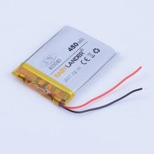 503030 3.7V 400mAh Rechargeable  li-Polymer Li-ion Battery For DVR GPS PSP PDA MP3 MP4  bluetooth headset  smart phone 053030