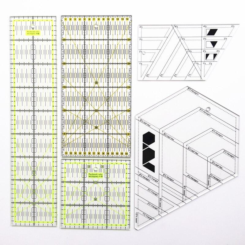 1 pcs Dirigeants Transparent Acrylique Matériel Patchwork Règle École Étudiant Bureau Papeterie Cadeaux Quilting Quilting Règle Outil