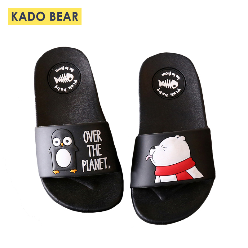 Kids Cartoon Bear Indoor Slippers Toddler Boys Girls