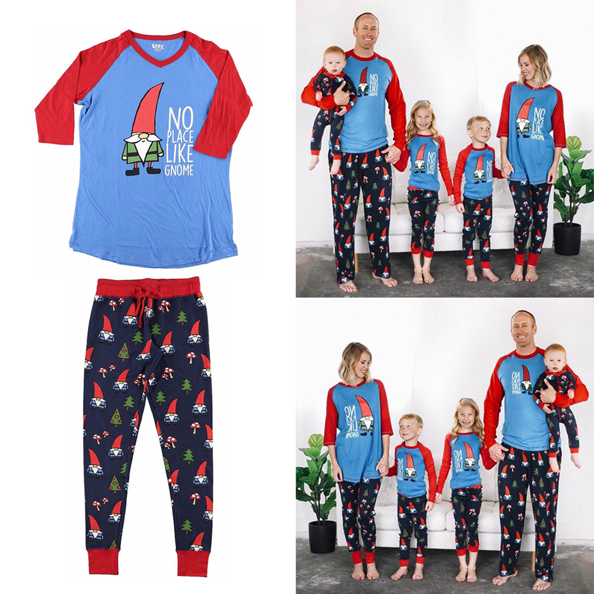 22d1792a07 2018 Multitrust Brand Christmas Family Matching Cute Pajamas Adult Women  Kids Baby Sleepwear Christmas Set Plus