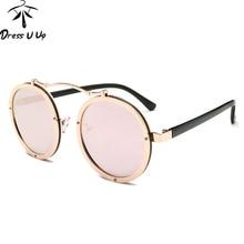 DRESSUUP Nueva Llegada Steampunk gafas de Sol Mujeres Hombres Diseñador de la Marca de Moda UV400 Gafas de Sol Frescas Gafas de Sol Feminino Hombre