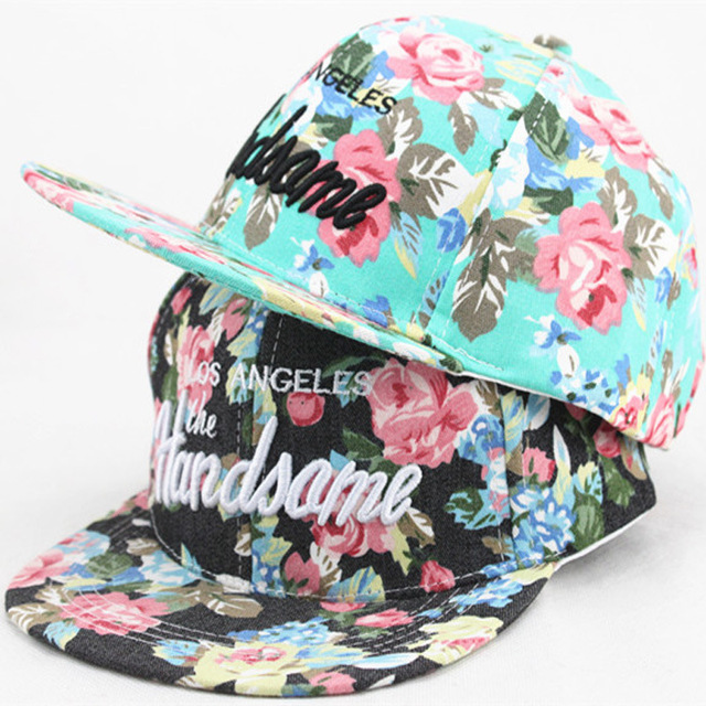 Nuevos niños de colores de flores Snapback plana a lo largo del sombrero  gorra de béisbol 0d1dd0049ee