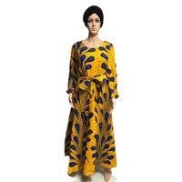 Africa Cloth dresses for women real dashiki wax print with belt cotton Hitarget africa dresses for women