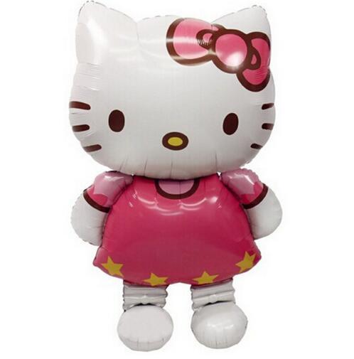 116*65 см воздушные шары из фольги для кошек, 3 размера, большие, средние, с головой котенка, для украшения дня рождения, свадебные, вечерние, над...