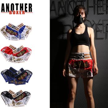 XS-XXL Muay Thai spodenki walki MMA spodenki odzież trening walki w klatce zmagają się sztuki walki Kick spodenki bokserskie odzież tanie i dobre opinie trunks POLIESTER Wiskoza Patchwork Dobrze pasuje do rozmiaru wybierz swój normalny rozmiar anotherboxer