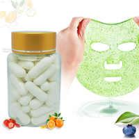 50 pcs Capsule bricolage masque poudre collagène protéine visage soin de la peau masque bioactif Peptide cristal fait maison Fruit légume masque pour les yeux