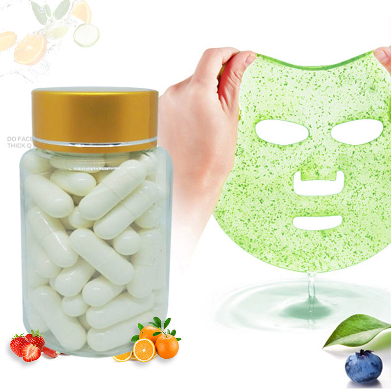 50pcs Capsule DIY Mask Powder Collagen Protein Facial Skin Care Mask Bioactive Peptide Crystal Homemade Fruit Vegetable Eye Mask