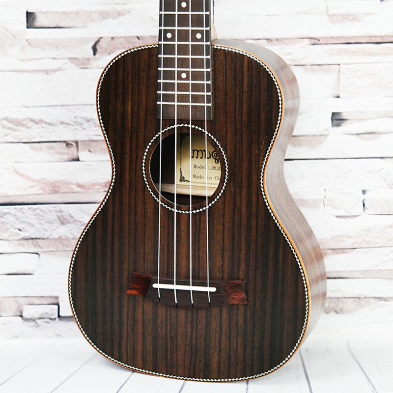 Concert Acoustic Ukulele 23 inch Rosewood Hawaiian 4 Strings Guitar 15 Fret Electric Ukelele with Pickup EQ