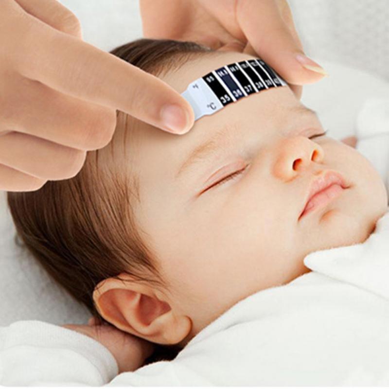 Термометр младенца многоразовые Гибкая малышей лоб Средства ухода за мотоциклом Здоровье Мониторы