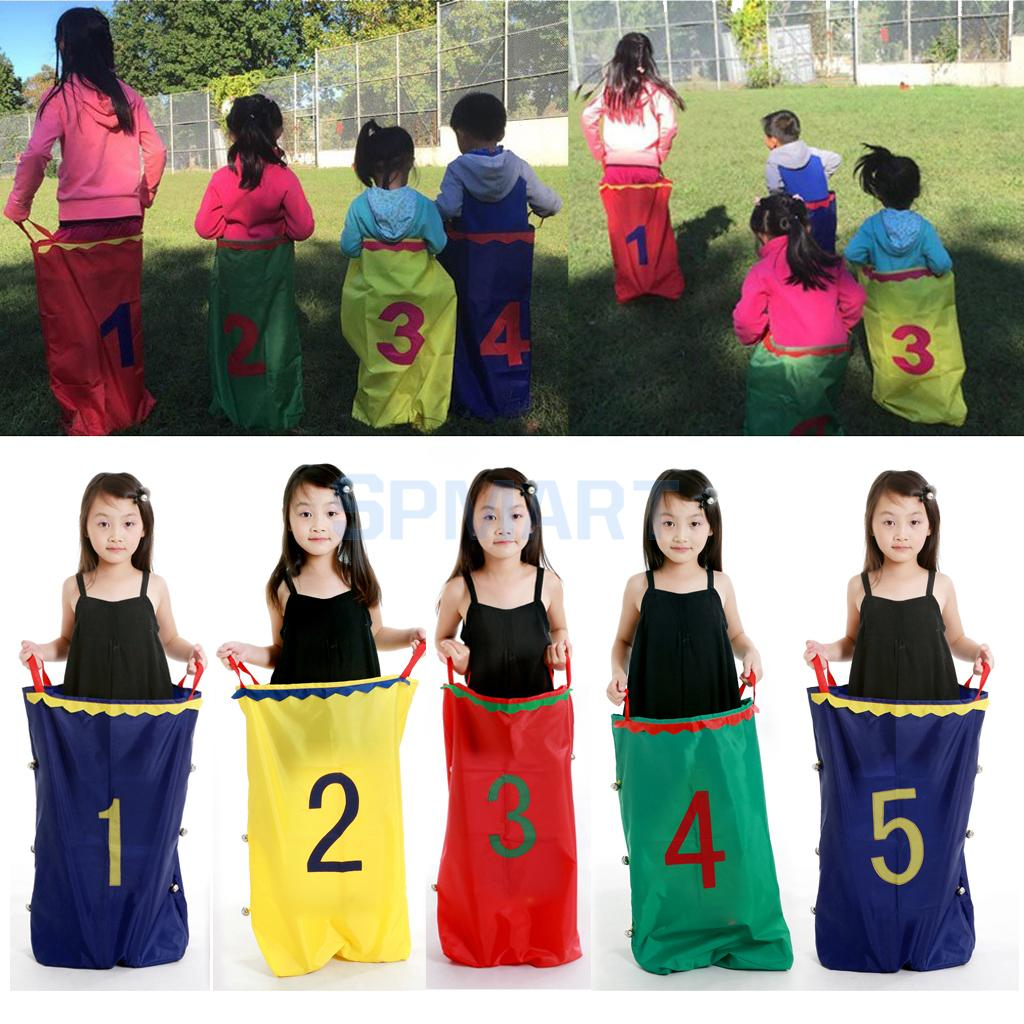 5pcs Set Outdoor Sports Kids Family Games Jumping Sack Toy Race Bag Balance Training Tool Garden Outdoor Creative Games kid s arrows games toys hands and feet jumping outdoor play games school kindergarten sport equipment