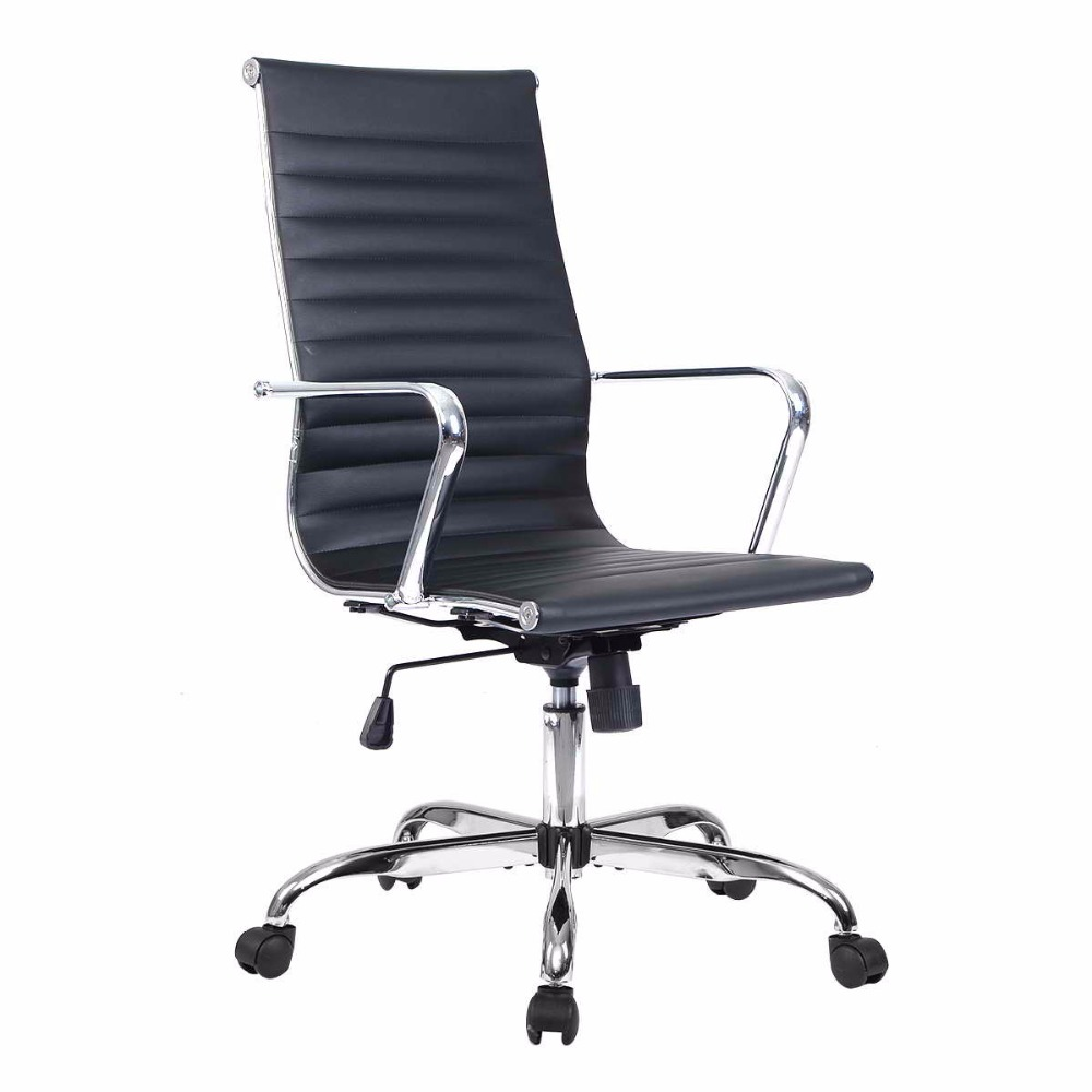 Goplus PU Leather High Back Office Chair Executive Task Ergonomic Computer Chairs Swivel Gaming Chair Office Furniture HW51438 240340 high quality back pillow office chair 3d handrail function computer household ergonomic chair 360 degree rotating seat